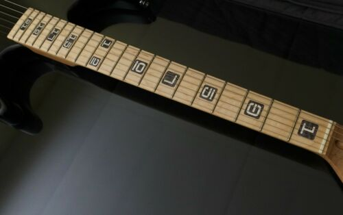 Emperial Numeral Blocks BLACK PEARL Block Inlay Sticker for Fender or ANY GUITAR