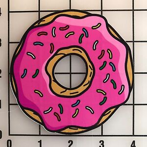 Pink-Donut-Beignet-Large-4-034-Multi-Color-Vinyl-Decal-Sticker-Bogo
