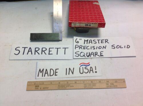 "20-6 STARRETT  USA 6/"" MASTER PRECISION SOLID SQUARE VERY GOOD USED CHEAP!"
