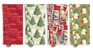 Giftmaker-Collection-5m-Elegant-amp-Traditional-Christmas-Gift-Wrapping-Paper-Roll