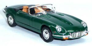 1971-JAGUAR-E-Type-Cabrio-modello-da-collezione-circa-1-43-11cm-VERDE-Lucky-Diecast