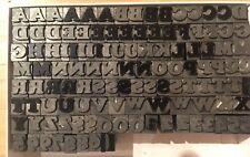 Letterpress Lead Font Upper Case Unidentified