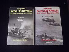 Les grandes batailles navales de la seconde guerre mondiale J.J.Antier 2 vol.WW2