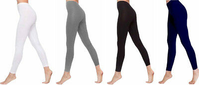 Ladies Girls Ankle Length Stretch Fit Cotton Legging Non See Through Feine Verarbeitung