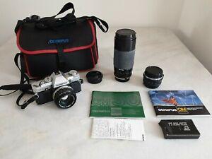 Vintage-Olympus-OM30-Camera-Lenses-amp-Carry-Case-Zuiko-Auto-S-amp-Miranda-Lenses
