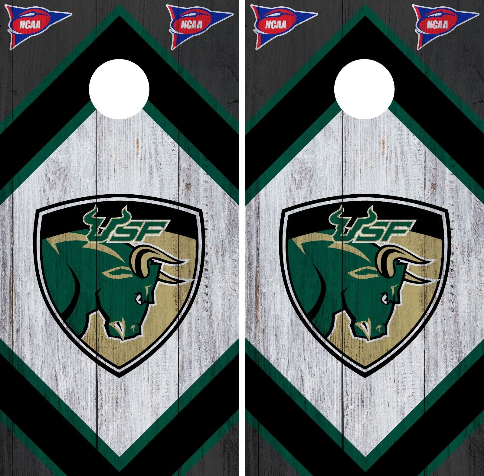 South Florida Bulls Cornhole Wrap NCAA Board  Skin Vinyl Decal Wood Set CO792  not to be missed!