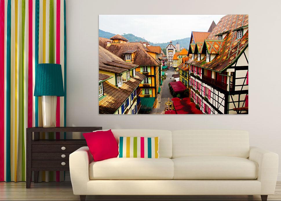 3D Huser der Strae 54 Fototapeten Wandbild BildTapete Familie AJSTORE DE Lemon