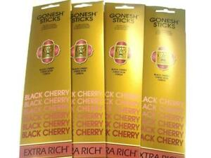 6x-Packs-Gonesh-Classic-Incense-Sticks-Extra-Rich-Black-Cherry-20-Stick-Count