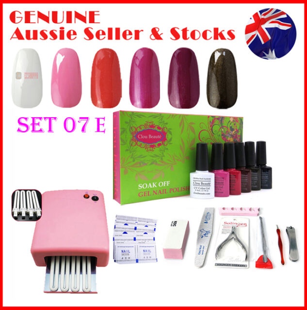 36W UV Lamp Dryer Gel Nail Polish Any 8 Pcs Soak Off Soakoff Gelish Full Kit Set