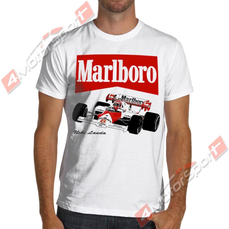 1984 F1 Champion Niki Lauda Mclaren Mp4 Formula 1 Marlboro Soft Cotton T-shirt