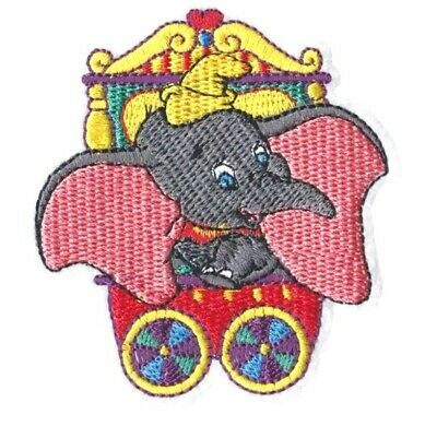 DISNEY LARGE DUMBO ELEPHANT EMBROIDERED APPLIQUÉ PATCH SEW  IRON CHARACTER #26