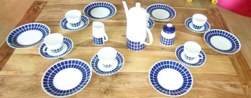 Kaffee service 6 Personen, Kobalt blau, NEU!!!