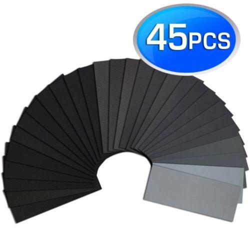 Sand Paper Variety Pack Assortment Wet Dry Waterproof 120-5000 Grit Wood Metal