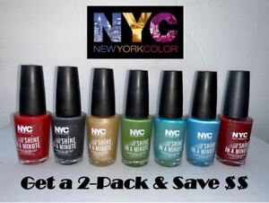 NYC New York Color SHINE in a MINUTE Nail Polish Enamel CHOOSE SHADE ...