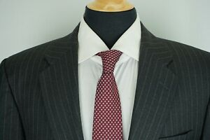 Hickey-Freeman-Madison-100-Worsted-Wool-Gray-Pinstriped-2-Pc-Suit-Sz-42L