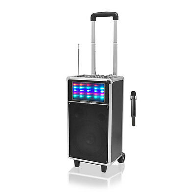 NEW Pyle PWMA850UFM 400W Portable PA Speaker System with USB/SD Readers  FM/AUX