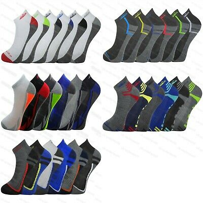 Sinnvoll 6 Pairs Mens Cushioned Sole Trainer Liner Sports Socks Running Gym Hiking Modischer (In) Stil;
