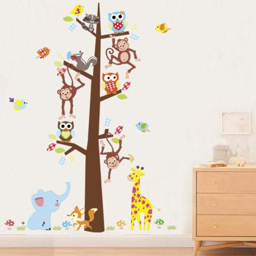 Cartoon Monkey Animal Tree Vinyl Wall Sticker School Decorate Removable Decals