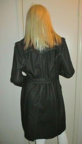 L croisé montant anthracite gris à de et col laine croisé mélange Manteau zippé xRU717q