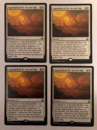 4x Amonkhet Approach Of The Second Sun PL//EX Magic Karte Magic The Gathering Mtg