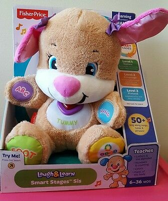 Fisher-Price Laugh and Learn Smart Stages Sis Plush Toy NEW