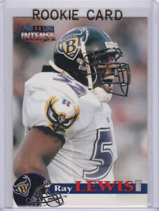 RAY LEWIS 1996 ROOKIE CARD Baltimore Ravens Football PRO LINE II ...