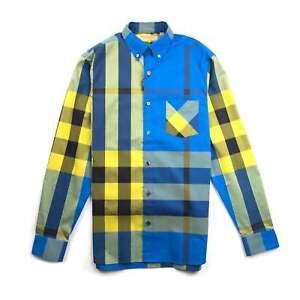 Thornaby lange geel geelblauw heren Burberry mouwen shirt met hdtCxQrs
