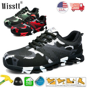 Men/'s Work Safety Shoes Steel Toe Ventilation Boots Indestructible Sneakers ESD