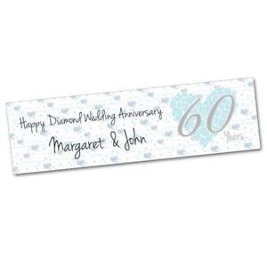 Anniversario Di Matrimonio 60 Anni.Diamante Personalizzato 60 Anni Anniversario Di Matrimonio Party