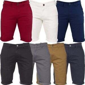 ENZO-Mens-Chino-Shorts-Cotton-Casual-Summer-Half-Pants-Stretch-Slim-Fit-Short