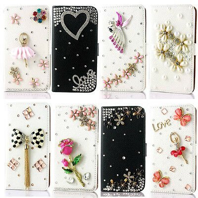 Bling diamond Book Wallet Leather Case Cover Pouch For Samsung phone accessories