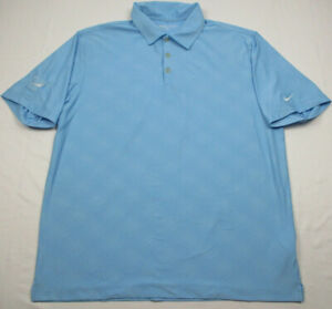 50f8b029e35cd Details about Nike Golf Polo Shirt Men's Large L Short Sleeve Light Blue  Dri Fit Stretch