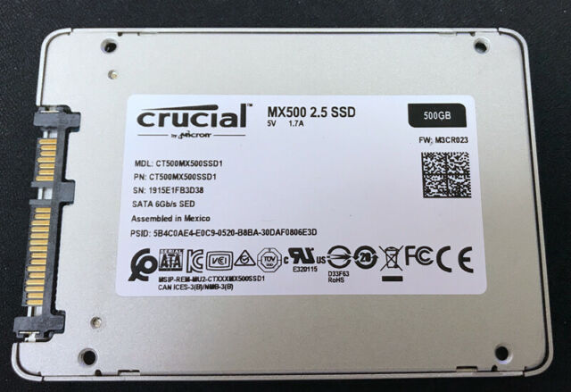 crucial MX500 2.5 SSD 500GB CT500MX500SSD1 SATA 6Gb/s SED