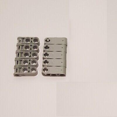 10 x LEGO® 32056 Technik Liftarme 3x3 Löcher neuhellgrau wie auf dem Foto neu.