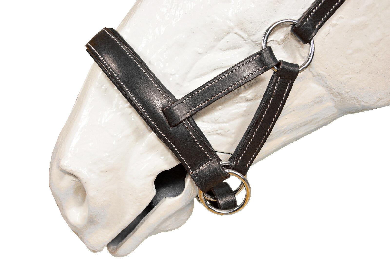 Esperia sidepull para montar a caballo cob full full full negro de cuero; k25 190 312f65