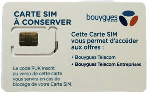 Sim Card Bouygues Telecom Prepaid Card Nano Sim Format 4g Standard Micro Ebay