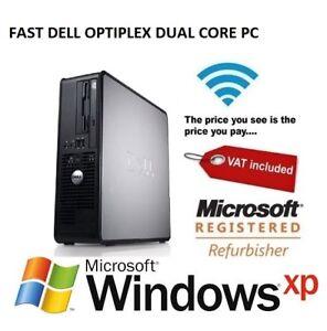 Dell-Optiplex-Dual-Core-4GB-RAM-160GB-HDD-Windows-XP-Desktop-PC-Computer