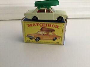 Matchbox-Lesney-Modelo-No-45b-Ford-Corsair-Con-Barco-MIB