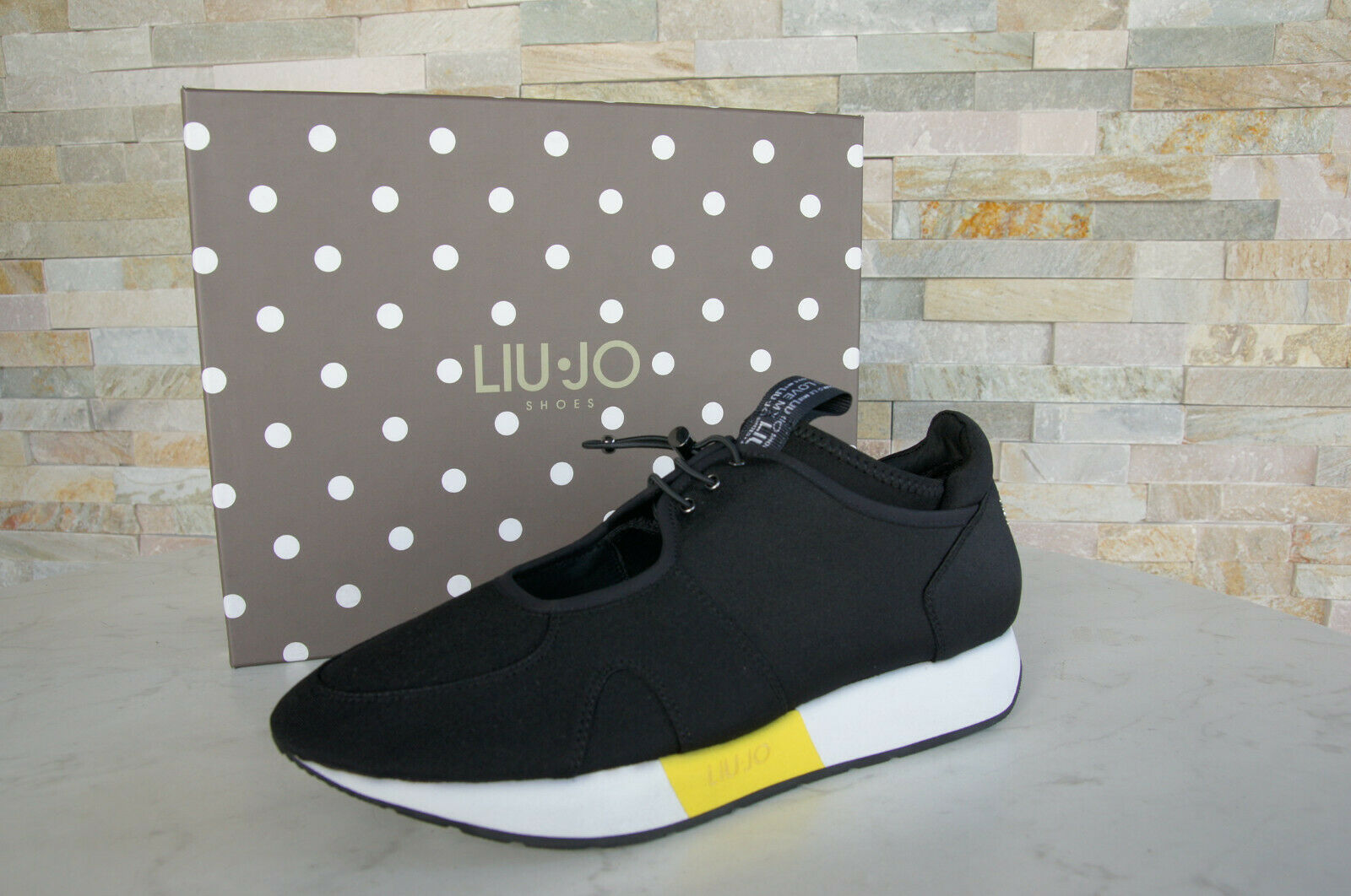 Liu Jo Size 41 Sneakers Low shoes Slip on shoes May Black New Previously