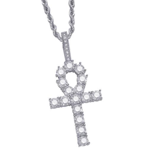 pour fête de mariage Religieux Croix Clé Collier Avec Cz Strass 2 x 1 in environ 2.54 cm
