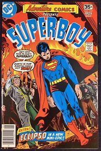 Adventure-Comics-1938-457-VF-8-0-Starring-Superboy-Eclipso