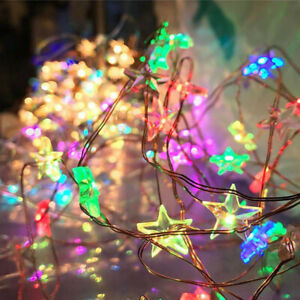 Multi-Coloured-Lights-LED-Battery-Fairy-String-Copper-Wire-Wedding-Decoration-UK