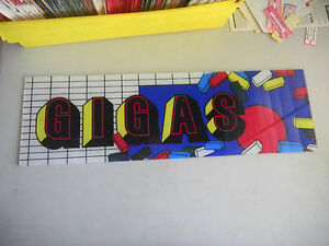 "Arcade, Jukeboxes & Pinball Collectibles Gigas Hard Plastic 22.5-7"" Vintage Arcade Game Sign Marquee Cf99"