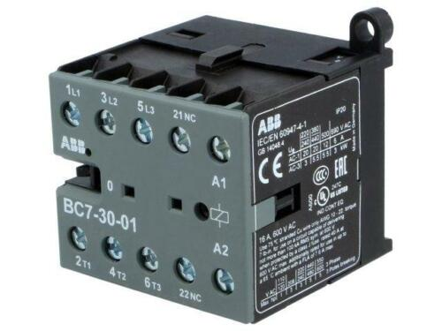 BC7-30-01-01 Contactor 3-pole Auxiliary contacts NC 24VDC 16A NO ABB