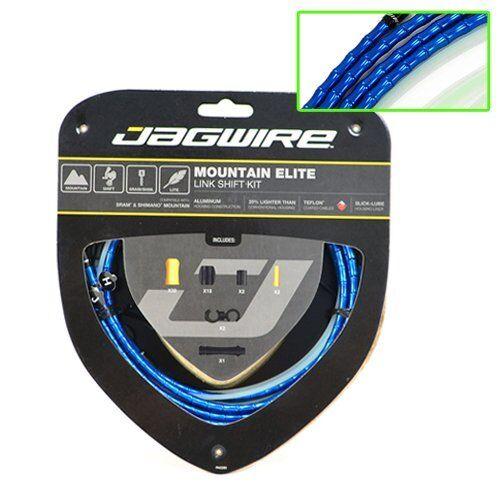 Jagwire Mountain MTB Elite Link Teflon Coated Shift Cable Kit , bluee