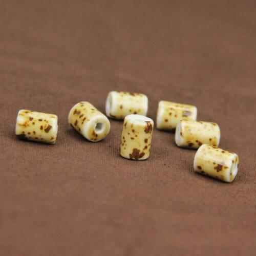 10pcs 10x14mm cylindrique en céramique Loose Spacer Beads À faire soi-même Jewelry Findings