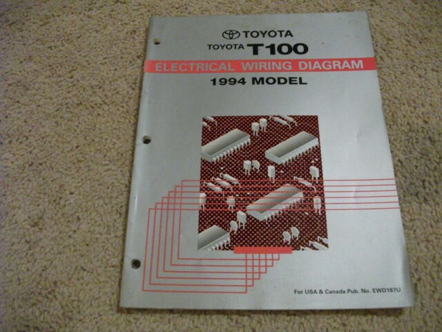 1994 Toyota T100 Truck Electrical Wiring Diagrams Service