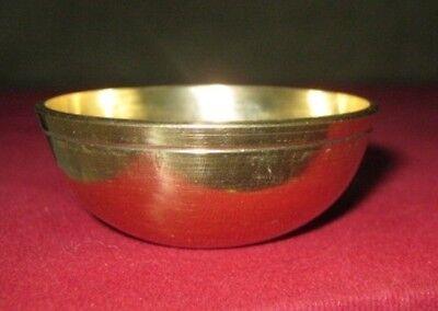 Set of 3 Brass Bowls Hindu Puja item India Havan Aarti Tika Mauli Holi Religious