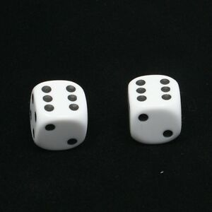 1-Pair-of-White-Dice-Dust-Caps-for-BMX-80-039-s-Retro-Valve-Caps