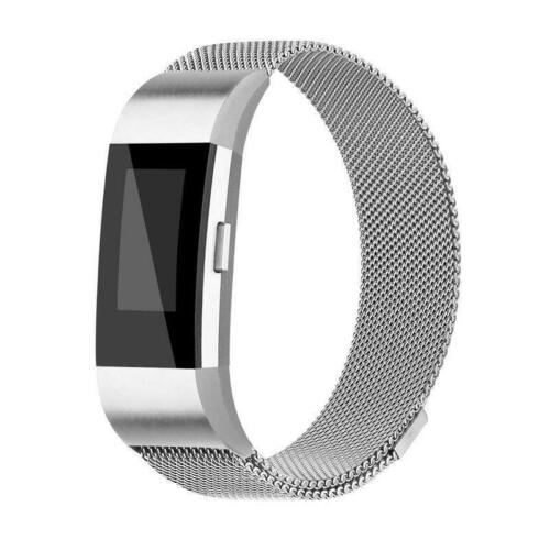 For Fitbit Charge 2 Metal Stainless Steel Magnet Strap Replacement Milanese Band